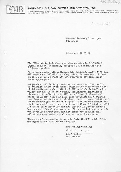 Preview of file webb_STF_Protokollsbilaga_Brev_Harlin_SMR_Presidium_1972-06-05.pdf at http://www.ingenjorshistoria.se/share/proxy/alfresco-noauth/tam/content/workspace/SpacesStore/c557fc26-a697-4b0d-88e3-8671effa5970 with style overlay_preview is not available.